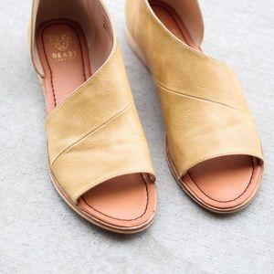 Boutique Shoes - Mustard Side Cutout Flats